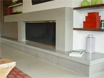 Mantle, Light Grey Fireplace Surrounds Hard Topix Jenison, MI