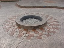 Stamped Patio with Fire Pit
