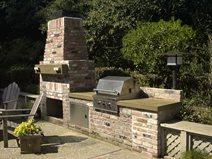 Brick, Natural Outdoor Kitchens Concrete Interiors Martinez, CA