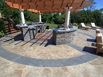 Open, Circlcular Outdoor Kitchens New England Hardscapes Inc Acton, MA