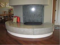 Fireplace Bench Polished Concrete Concrete Evolution Inc San Rafael, CA