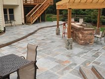 Elegant Stamped Concrete Patio