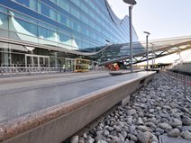 Denver Airport, South Terminal, Polished Concrete Site Colorado Hardscapes Denver, CO