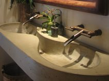 Double Concrete Sink Site DC Custom Concrete San Diego, CA