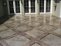 engraved patio