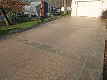Exposed Aggregate, Sand Site New England Hardscapes Inc Acton, MA