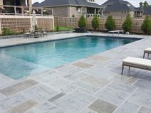 Faux Random Slate, Pool Deck Site Ozark Pattern Concrete, Inc. Lowell, AR