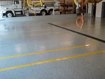 Fire Station Floor Site Mile High Coatings Fort Collins, CO