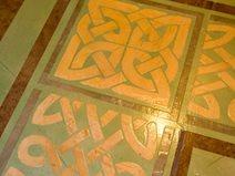 Green Gold, Stenciled Border Site Artistic Walls Ventura, IA