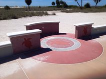 Integrally Colored Concrete Site Graham Booth Landscape Architects St. Petersburg, FL