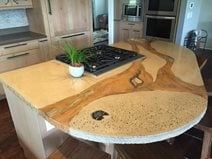 Kitchen Countertop Site Absolute ConcreteWorks Poulsbo, WA