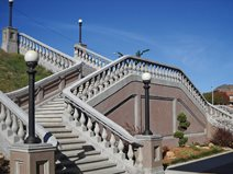 Railroad Depot Staircase, Architectural Concrete Site Concrete Strategies St. Louis, MO