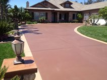 Stained Concrete Driveway Makeover Site KB Concrete Staining Norco, CA