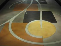 Stained Floor, Geometric Shapes Site Richard Smith Custom Concrete Canoga Park, CA