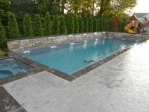 Attractive Stamped Pool View Site Elite Crete Design Inc Oshawa, ON On Concrete Pool Designs