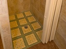 Stenciled Shower Floor Site Artistic Walls Ventura, IA