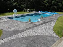 Gray, Seamless, Slate Stamped Concrete BKN Design & Build Saugerties, NY