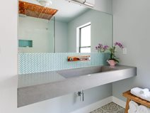 Floating Sink, Wall Mount Sink, Ramp Sink Concrete Sinks Flying Turtle Cast Concrete Modesto, CA