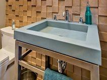 Custom Sink, Modern Vanity Concrete Sinks Flying Turtle Cast Concrete Modesto, CA