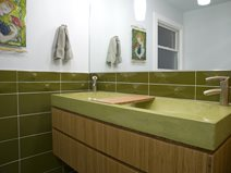 Green Concrete Bathroom Sink Concrete Sinks Reaching Quiet Design Charlotte, NC