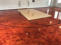 Metallic Epoxy, Basketball Court Site Sundek of Houston Katy, TX