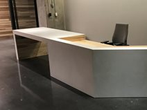 Concrete Desk, Office Reception Concrete Furniture Livingstone Concrete Studios Lincoln, RI