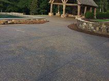 Exposed Aggregate, Backyard Smokehouse Exposed Aggregate Amazing Concrete Inc Aliso Viejo, CA