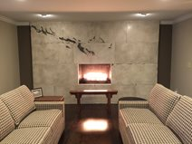 Custom Fireplace, Fireplace Design Site M Concrete Studios Dayton, OH
