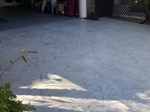 Driveway Overlay, Bamboo Stamp Site Envision Concrete Escondido, CA