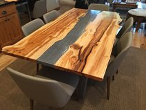 Yew Table, Concrete Table Site Crafthammer Design Seattle, WA