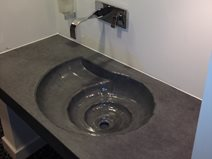 Ammonite Fossil Sink Concrete Sinks DC Custom Concrete San Diego, CA