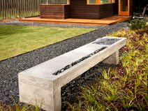Concrete Bench, Water Feature Outdoor Furniture Turning Stone Design Atlanta, GA