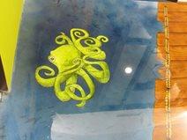 Dental Office Overlay, Octopus Graphic Site Concrete Mystique Engraving Nashville, TN