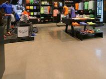 Polished Retail Floor, Nike Store Site Mark Beamish Waterproofing Anaheim, CA