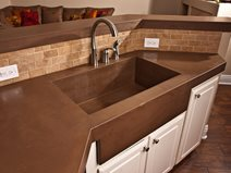 Brown Countertop Concrete Countertops Concrete Wave Design Anaheim, CA