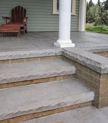 Concrete Steps, Textured Form Liner Site Butterfield Color Aurora, IL