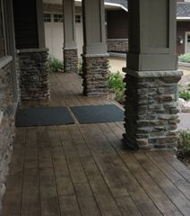 Stamped Concrete Porch And Entries