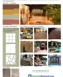 Old-World Design Style Site ConcreteNetwork.com ,