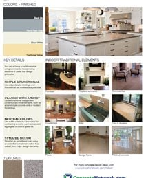 Traditional Design Style Site ConcreteNetwork.com