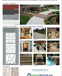 Traditional Design Style Site ConcreteNetwork.com ,
