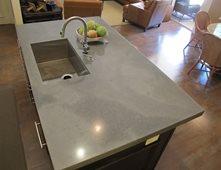 Kitchen Island, Undermount Sink Concrete Countertops Thiel Studio Designs,  LLC. West Palm Beach