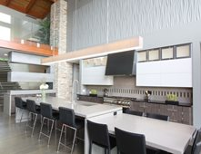two level kitchen island white concrete concrete countertops hard topix jenison mi