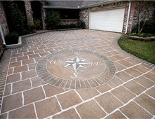 Concrete Driveway Design Ideas driveway designs by creative concrete coatings Brown Dirveway Colored Driveway Concrete Driveways Imagine It Designs Brenham Tx Concrete Driveway Design Ideas
