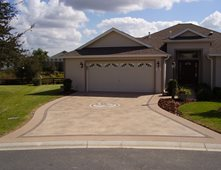 concrete driveways concrete by design fishers in - Concrete Driveway Design Ideas