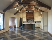 Kitchen Floor, Lattice Pattern Concrete Floors Owens Concrete Staining  Oklahoma City, OK Design