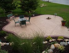 Brick Free Form Concrete Patios Concreations Llc Millersburg In