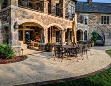 Seamless Stamped Patio, Patio Border Concrete Patios Ju0026H Decorative Concrete  LLC Uniontown, ...