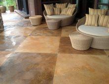 Stained Checkerboard Patio Concrete Patios Architectural Concrete U0026 Design  Draper, ...