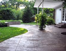 concrete patios pictures - gallery - the concrete network - Stamped Patio Designs