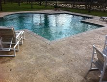concrete pool deck concrete pool decks exquisite concrete designs college station tx